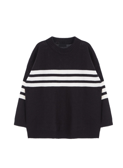 Triple Line Loose Knit Sweater