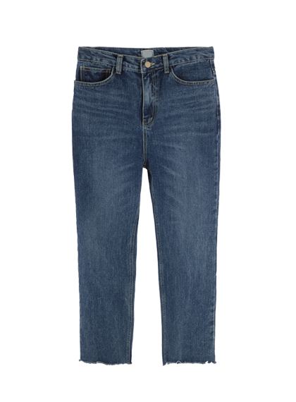 Whisker Wash Cut Off Jeans