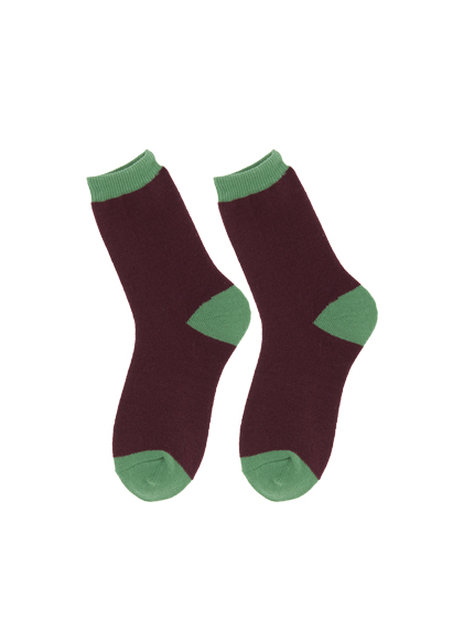 Basic Color Blocked Ankle Socks