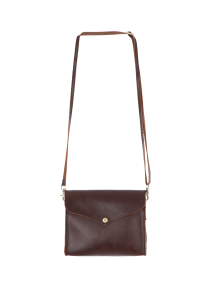 Crossbody Faux Leather Flap Bag