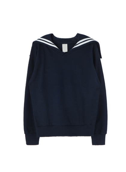 Basic Sailor Collar Sweatshirt