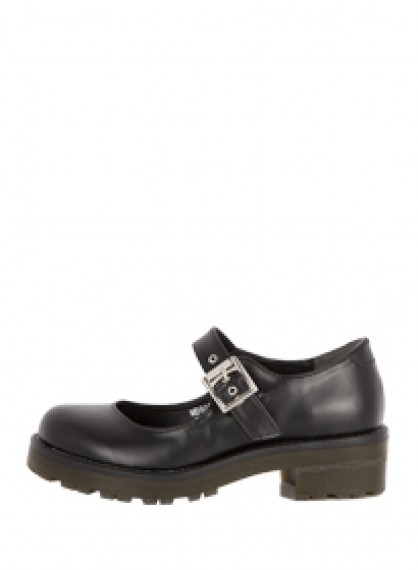 Round Toe Buckled Shoes