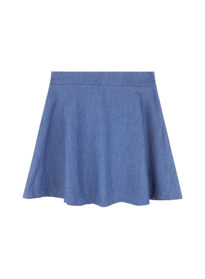 Basic A-Line Denim Skirt