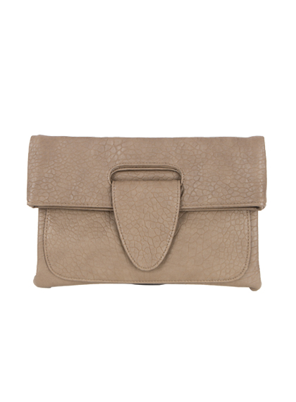 Textured Fold Over Clutch