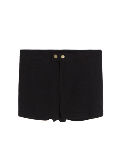 Double Snap Front Shorts
