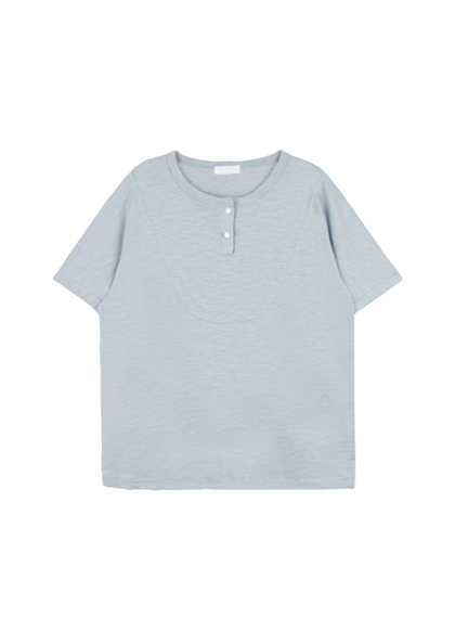 Colored Henley Neck T-Shirt