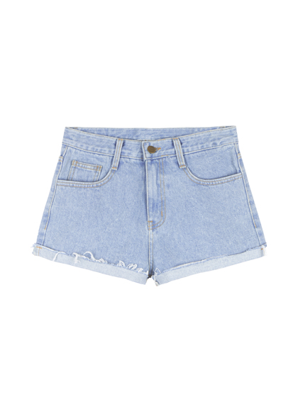 Roll-Up Hem Vintage Denim Shorts