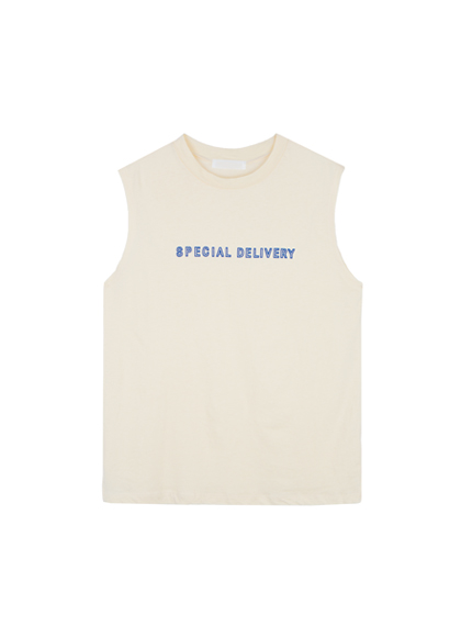 SPECIAL DELIVERY Print Sleeveless Shirt