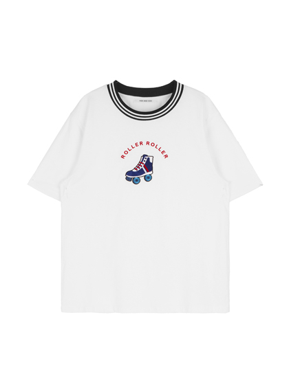 Embroidered Roller Skates T-Shirt