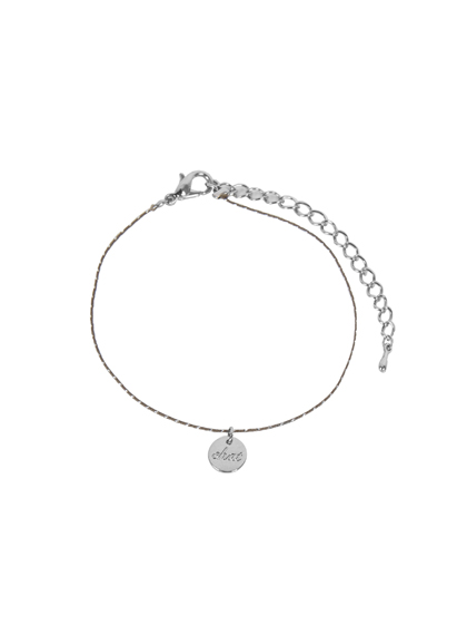 Engraved Circle Charm Anklet