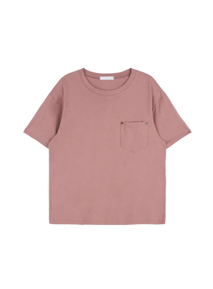 Solid-Colored One Pocket T-Shirt