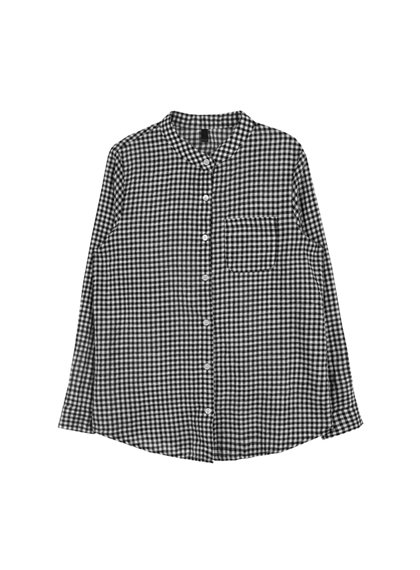 Gingham Check One Pocket Shirt