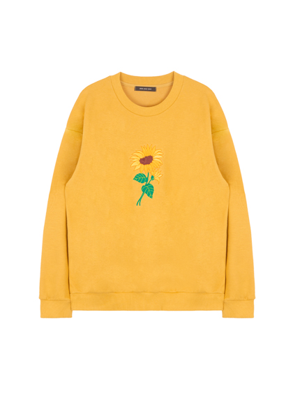 HIDE AND SEEKEmbroidered Sunflower Detail Sweatshirt