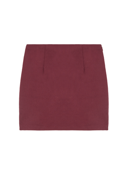 High Waist Colored Tube Mini Skirt