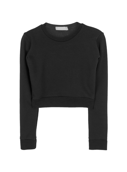 Long Sleeve Slim Fit Crop Top