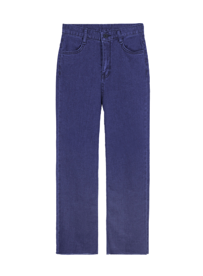 Flared Cropped Denim Pants