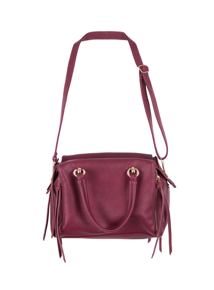 Two-Way Carry Tassel Zipper Bag