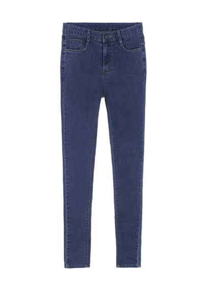 High-Waisted Blue Skinny Jeans