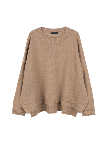 Baggy Round Neck Knit Sweater