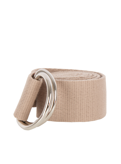 Solid Colored Double D-Ring Belt