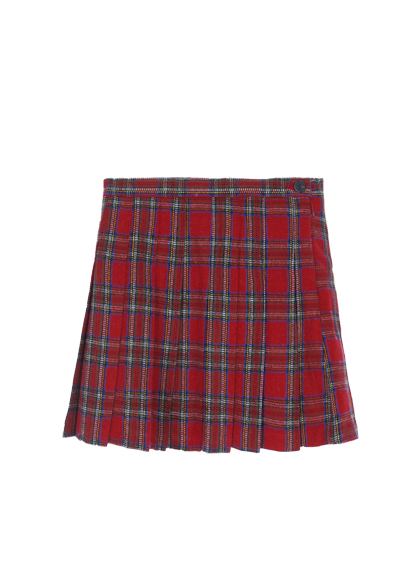 Tartan Check Pleated Mini Skirt
