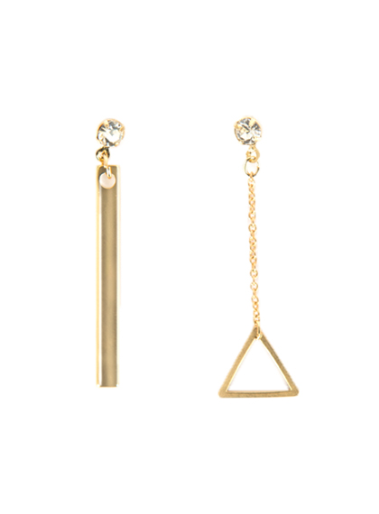 Triangle And Bar Dangling Earrings