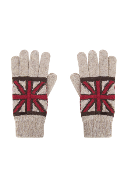 Union Jack Knit Gloves