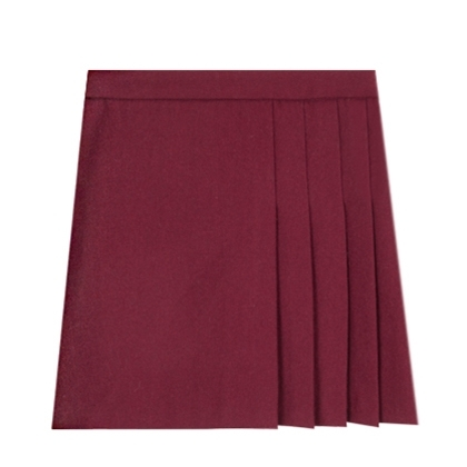 Side Pleat A-Line Skirt