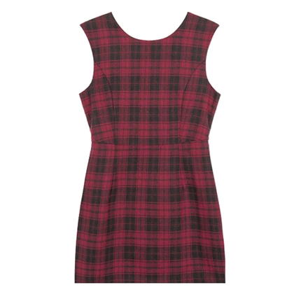 BAUHAUSSleeveless Plaid Mini Dress