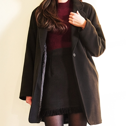 BAUHAUSSingle Button V-Neck Coat
