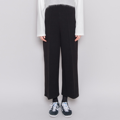 Wide-Leg Ankle-Cut Pants
