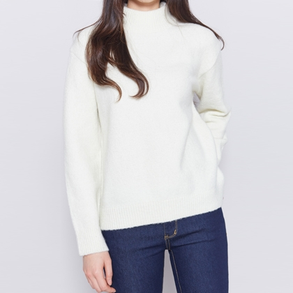 Essential High Neck Knit Sweater