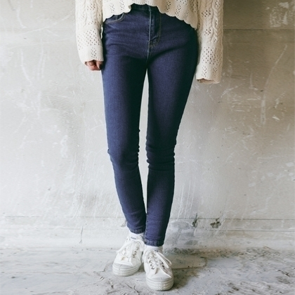 High Waist Skinny Denim Pants