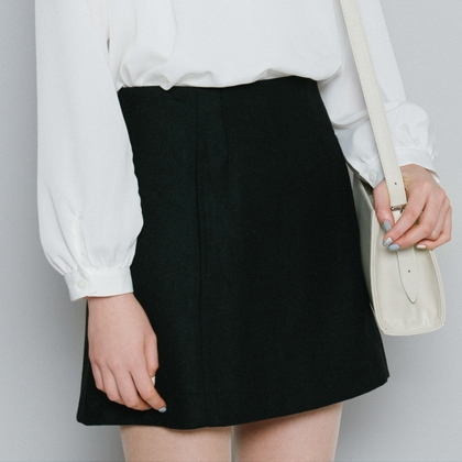 Plain A-Line Mini Skirt
