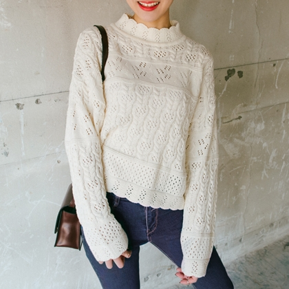 BAUHAUSLace Knit Sweater