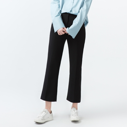 Cropped Boot Cut Slacks