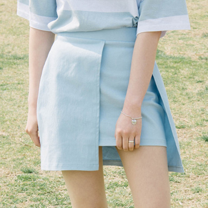 Cut-Out Front Skirt