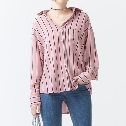 BAUHAUSStriped One-Pocket Shirt