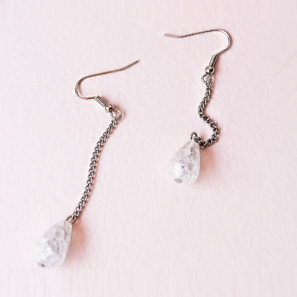 Teardrop Crystal Drop Earrings