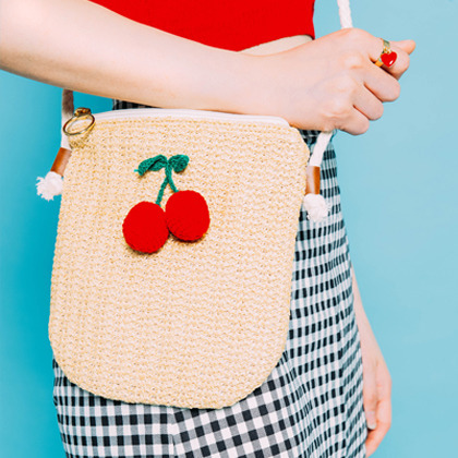 Cherry Accent Crossbody Bag