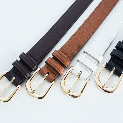 Gold Tone Buckle Belt
