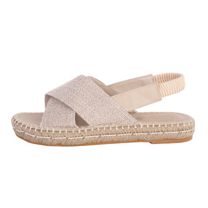 Criss-Cross Strap Espadrille Sandals