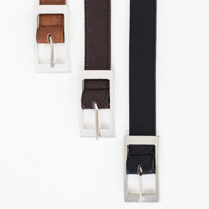 Square Metal Buckle Belt