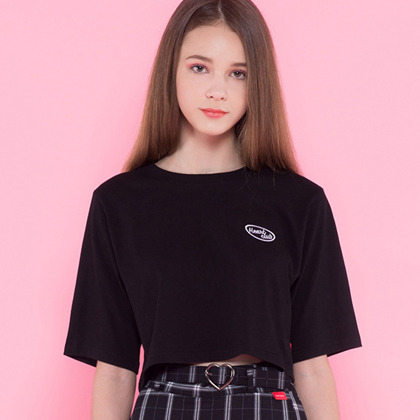 HEART CLUBCropped Boxy Logo Tee