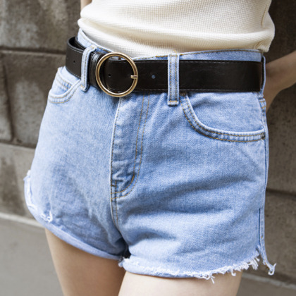 Cutoff Denim Hot Pants