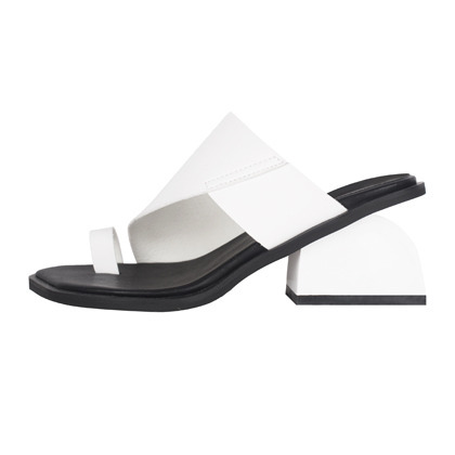 Notched Block Heels Sandals