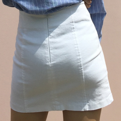 Basic Faux Wrap Mini Skirt