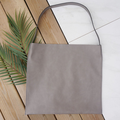 Plain Square Shoulder Bag