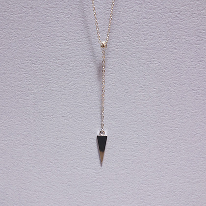 Inverted Pointed Triangle Pendant Necklace
