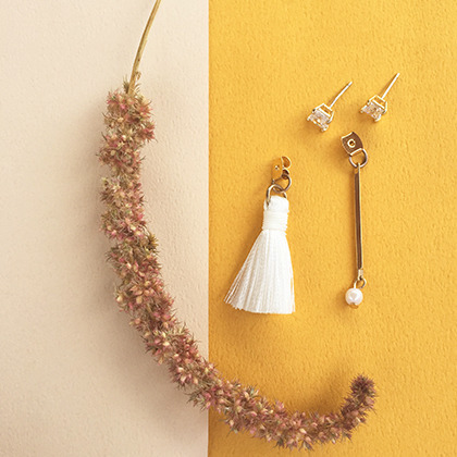Mismatched Faux Pearl And Tassel Earrings